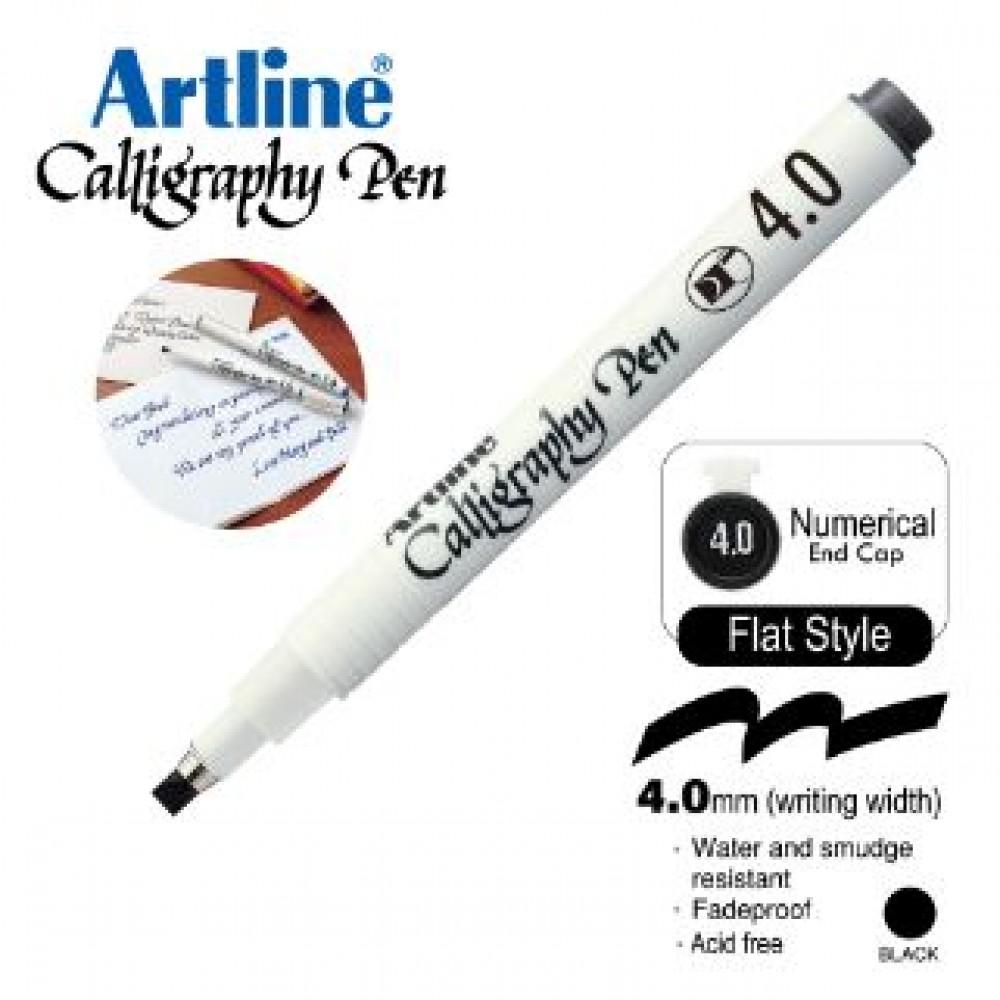 ARTLINE CALLIGRAPHY PEN EK-244N 4.0MM BLACK