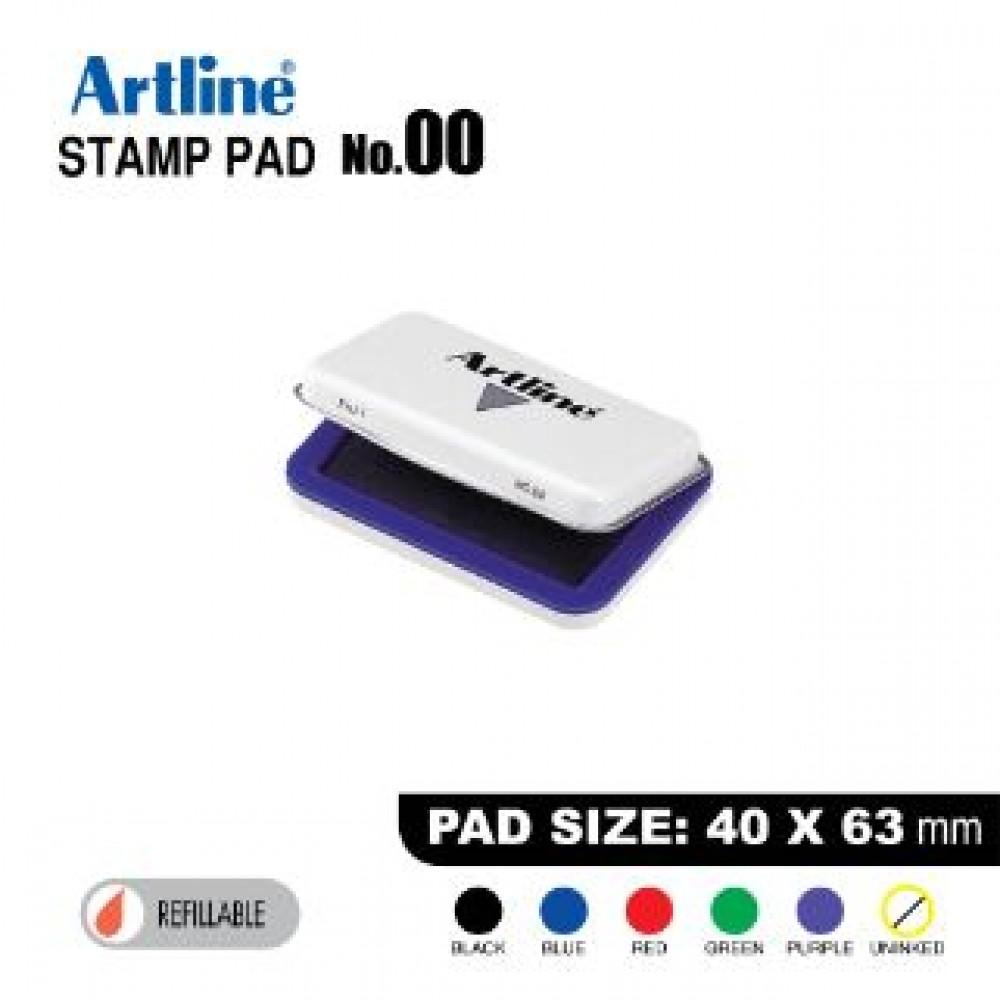 ARTLINE STAMP PAD NO.00 EHJ-1 EHJU-1 40x63mm Blue