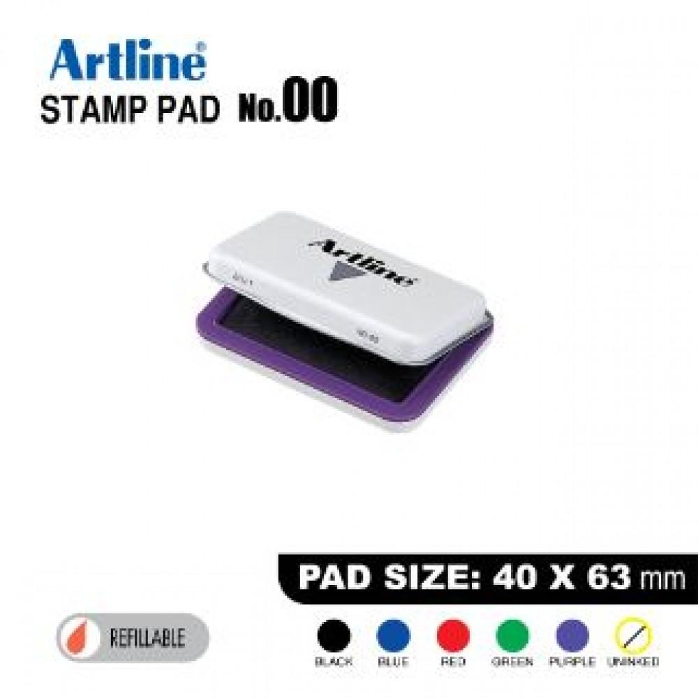 ARTLINE STAMP PAD NO.00 EHJ-1 EHJU-1 40x63mm PURPLE