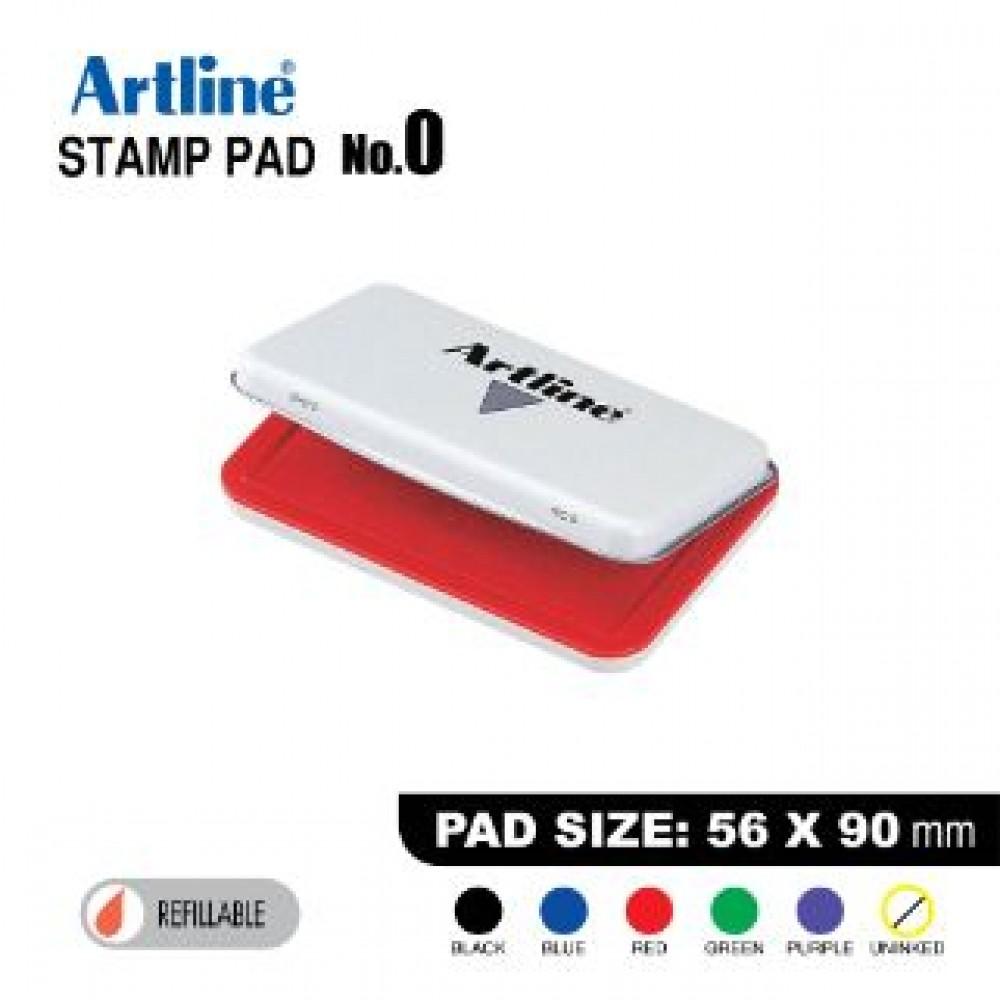 ARTLINE STAMP PAD NO.0 EHJ-2 EHJU-2 56X90mm RED
