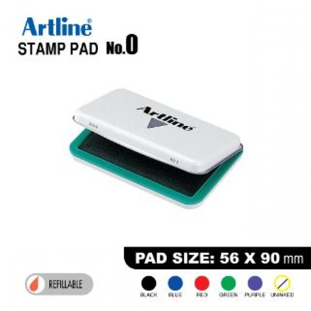 ARTLINE STAMP PAD NO.0 EHJ-2 EHJU-2 56X90mm GREEN