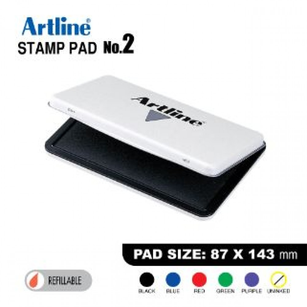 ARTLINE STAMP PAD NO.2 EHJ-4 EHJU-4 87X143mm BLACK