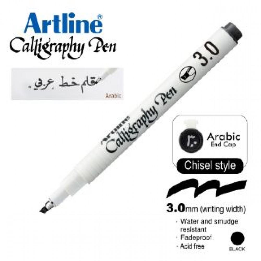 ARTLINE CALLIGRAPHY PEN EK-243N/AB 3.0MM CHISEL NIB BLACK