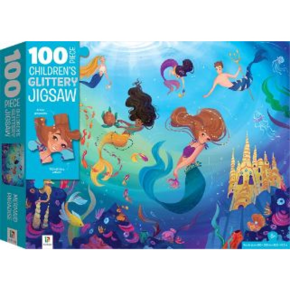 HINKLER CHILDREN JIGSAW PUZZLE WITH TREATMENTS  MERMAIDS 100PCS
