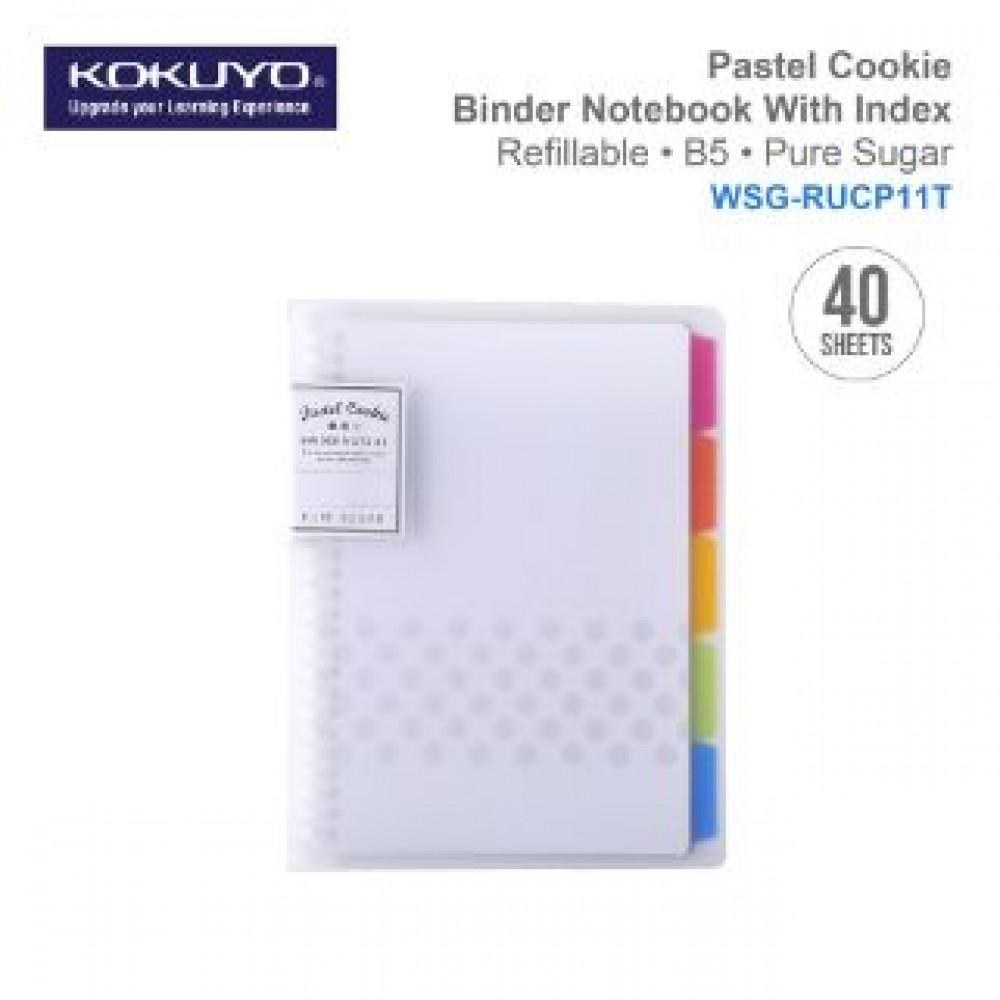 KOKUYO PASTEL COOKIE BINDER NOTEBOOK B5 (REFILLABLE)TRANS WSG-RUCP11