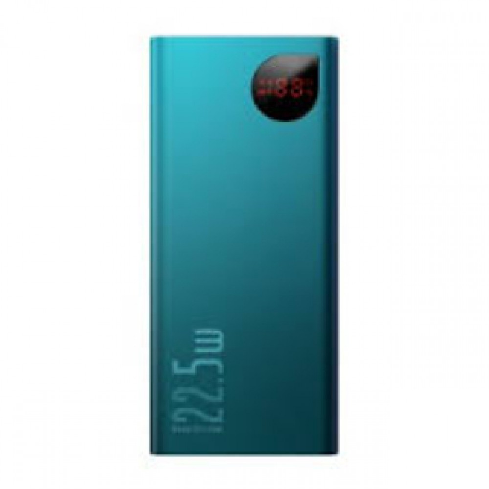 BASEUS PPIMDA-B06 22.5W PD TYPE-C+QC3.0 10,000MAH DIGITAL DISPLAY POWER BANK GREEN