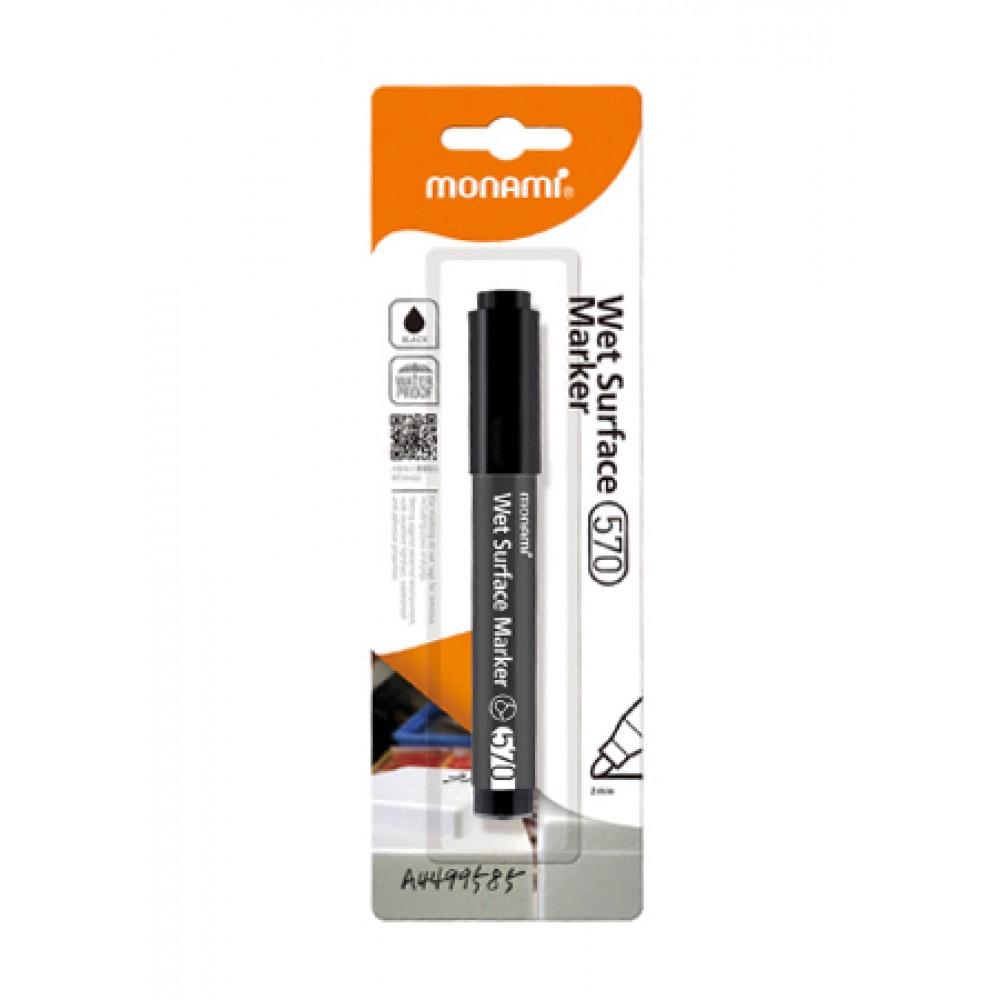 MONAMI 570 Wet Surface Marker Bullet Point - Black