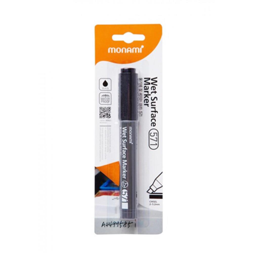 MONAMI 571 Wet Surface Marker Chisel Point - Black