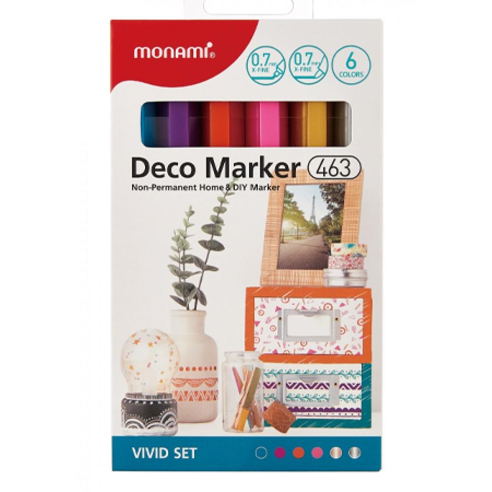 MONAMI 463 Deco Marker Set - Vivid