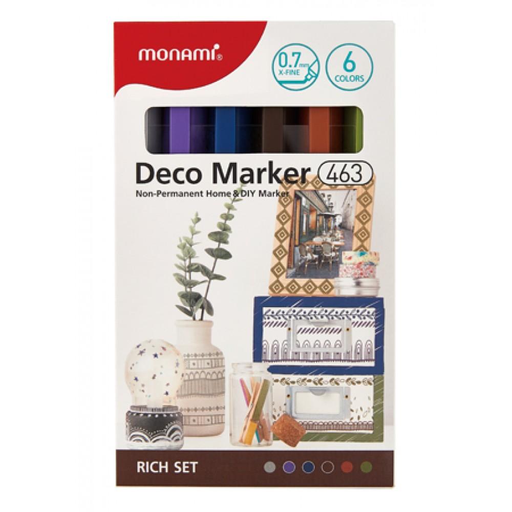 MONAMI 463 Deco Marker Set - Rich