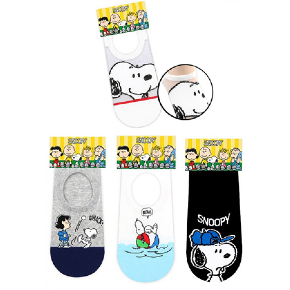 SNOOPY LOW CUT SOCKS- ASSORTED COLOURS