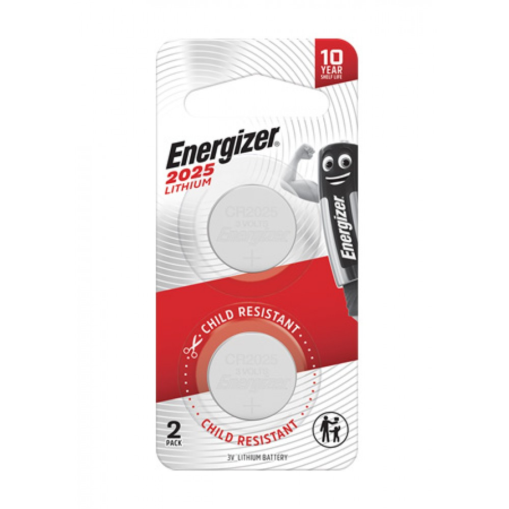 ENERGIZER LITHIUM COIN BATTERY 2025 2'S