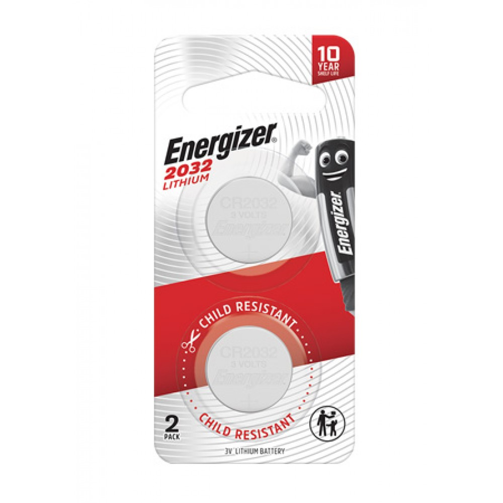 ENERGIZER LITHIUM COIN BATTERY 2032 2'S