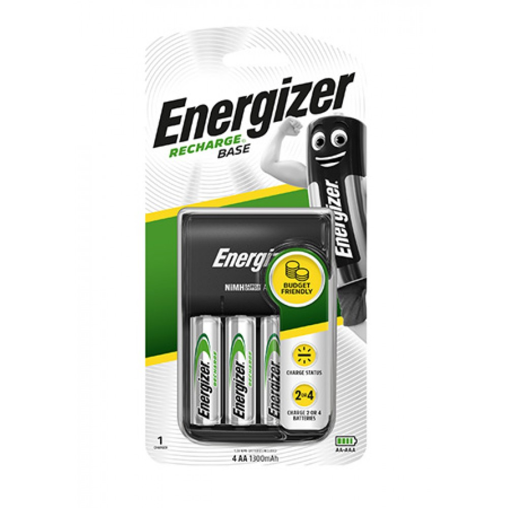 ENERGIZER BASE CHARGER WITH AA BATTERY 4'S (1300mAh)