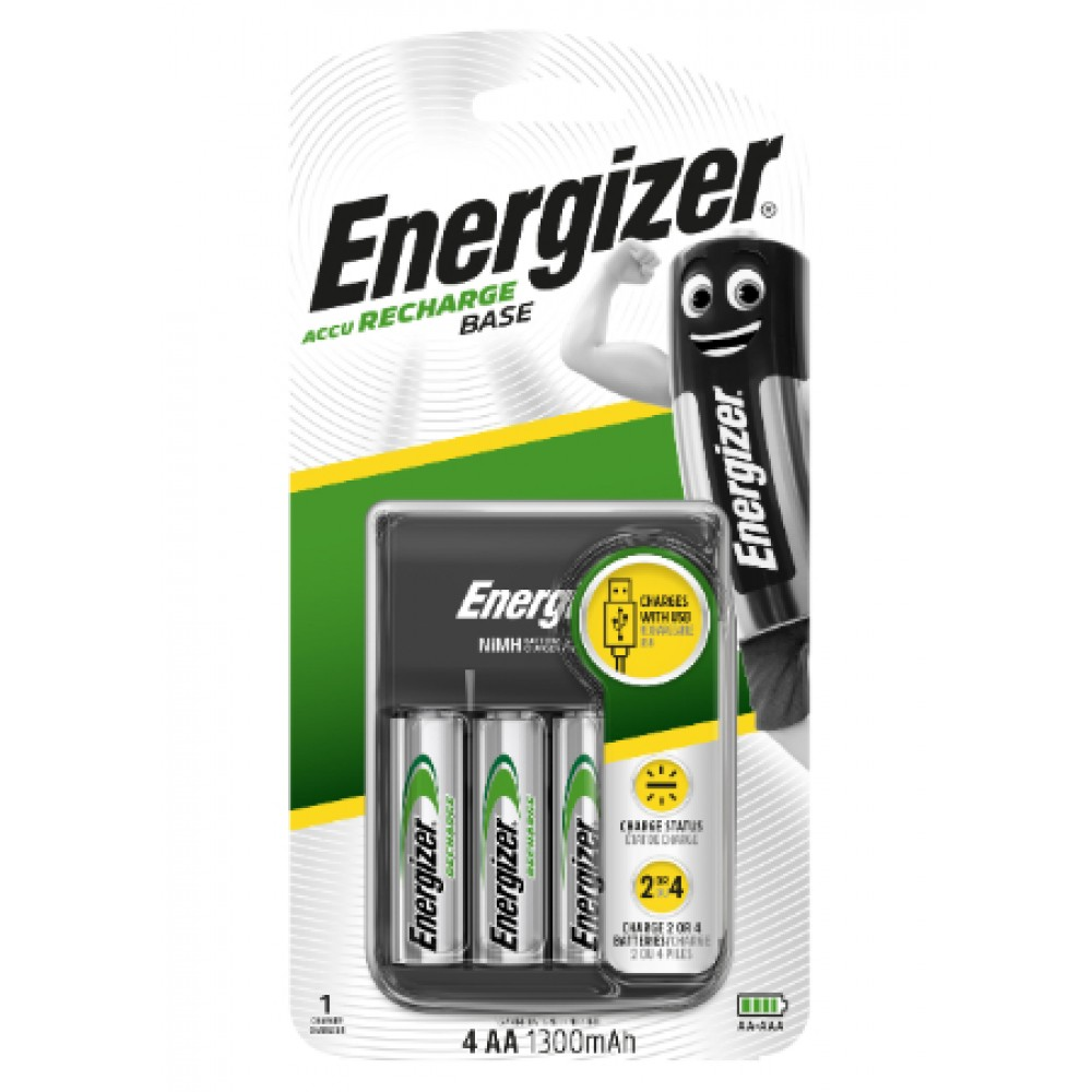 ENERGIZER USB BASE CHARGER WITH AA BATTERY 4'S