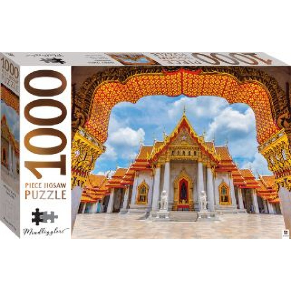 HINKLER JIGSAW PUZZLE MARBLE TEMPLE THAILAND 1000PCS