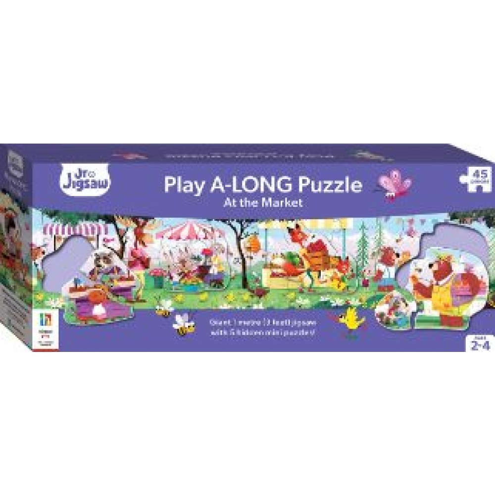 HINKLER PLAY A LONG JIGSAW PUZZLE AT THE MARKET 45 PCS