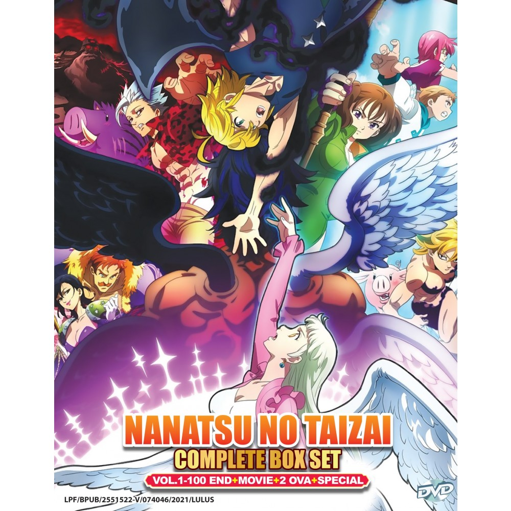 NANATSU NO TAIZAI COMPLETE BOX SET VOL.1-100 END+2 OVA+MOVIE+SPECIAL(DVD)