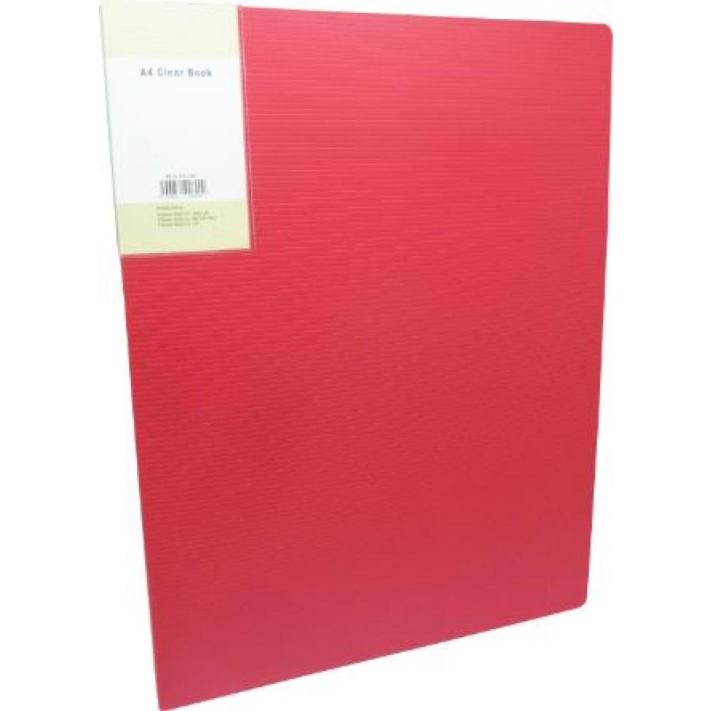 POP BAZIC DISPLAY BOOK A4 10 POCKETS RED