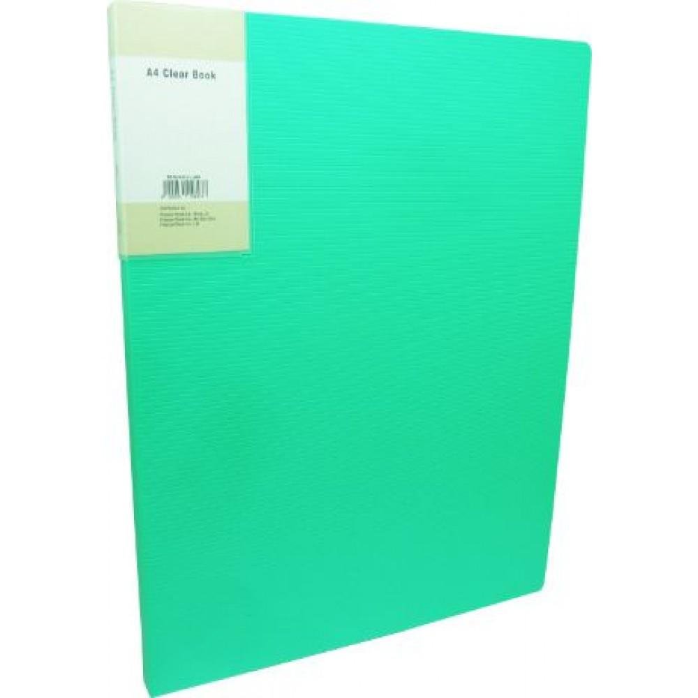 POP BAZIC DISPLAY BOOK A4 10 POCKETS LIME GREEN