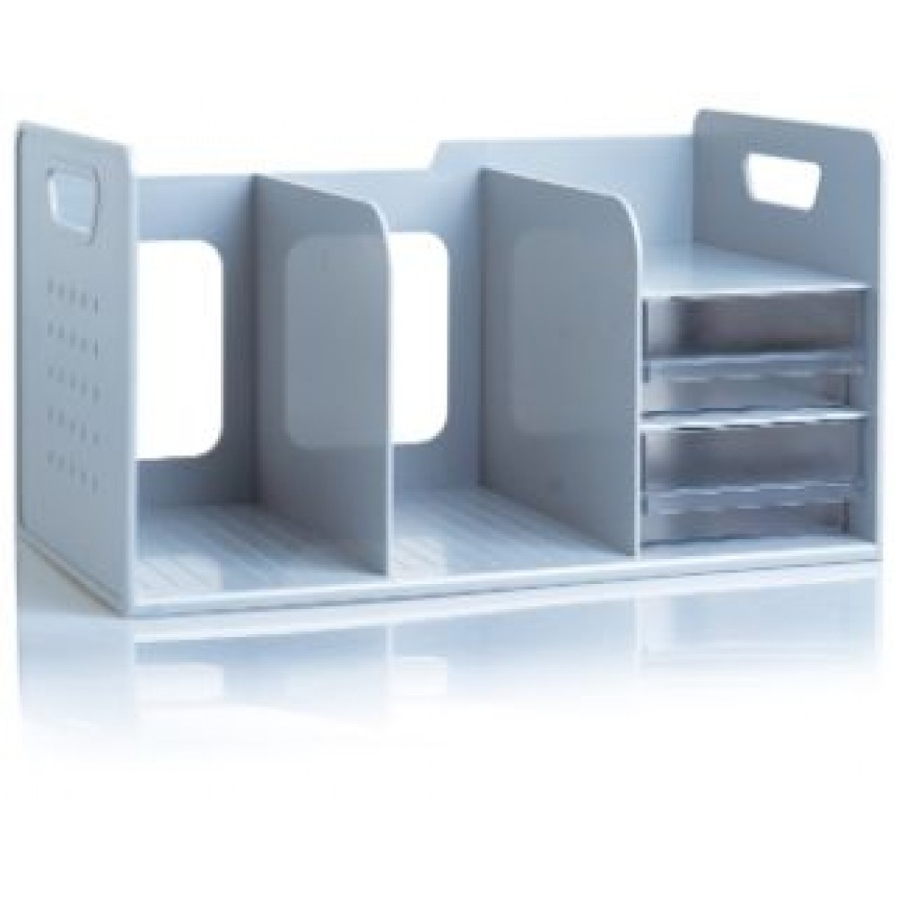 SDLP BOOK RACK WITH 2 DRAWER -  GRAY