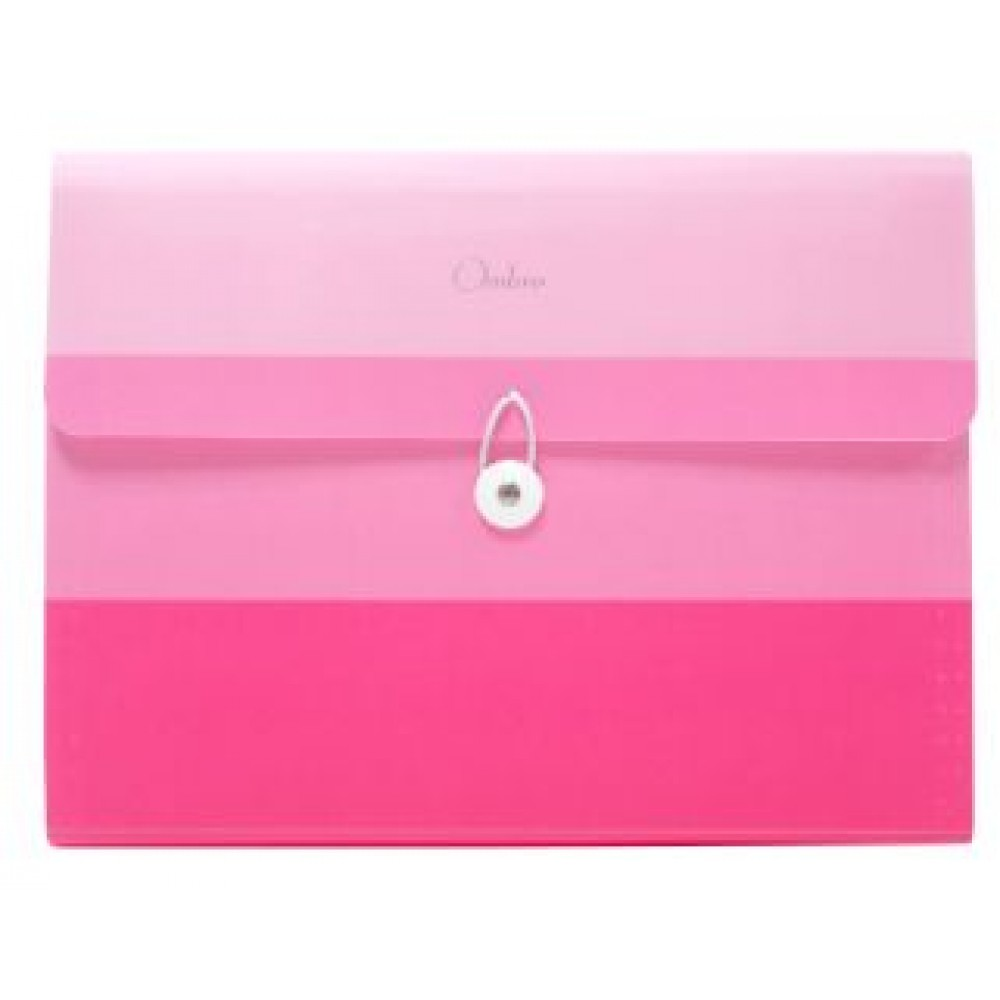 POP BAZIC OMBRE SERIES EXPANDING FILE A4 13 POCKETS PINK