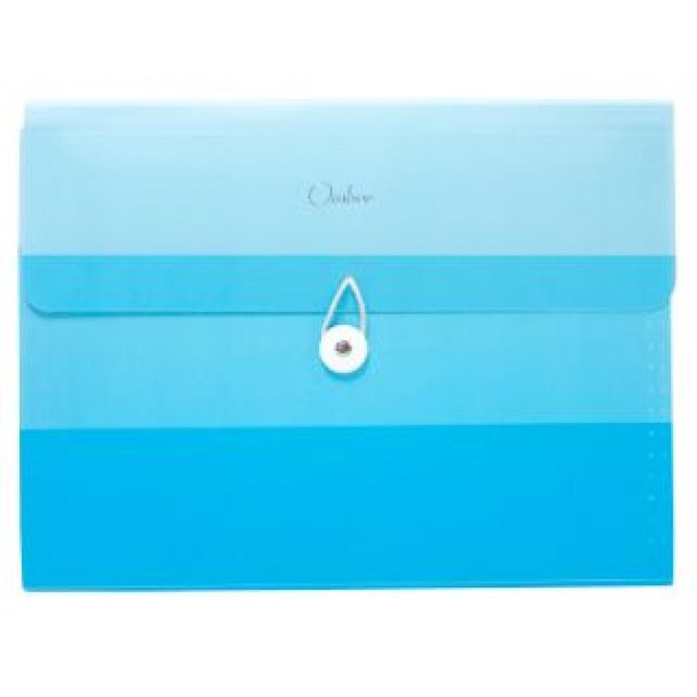 POP BAZIC OMBRE SERIES EXPANDING FILE A4 13 POCKETS BLUE