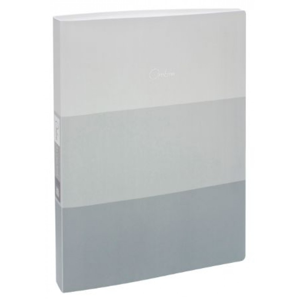 POP BAZIC OMBRE SERIES CLEAR BOOK A4 20 POCKETS GRAY
