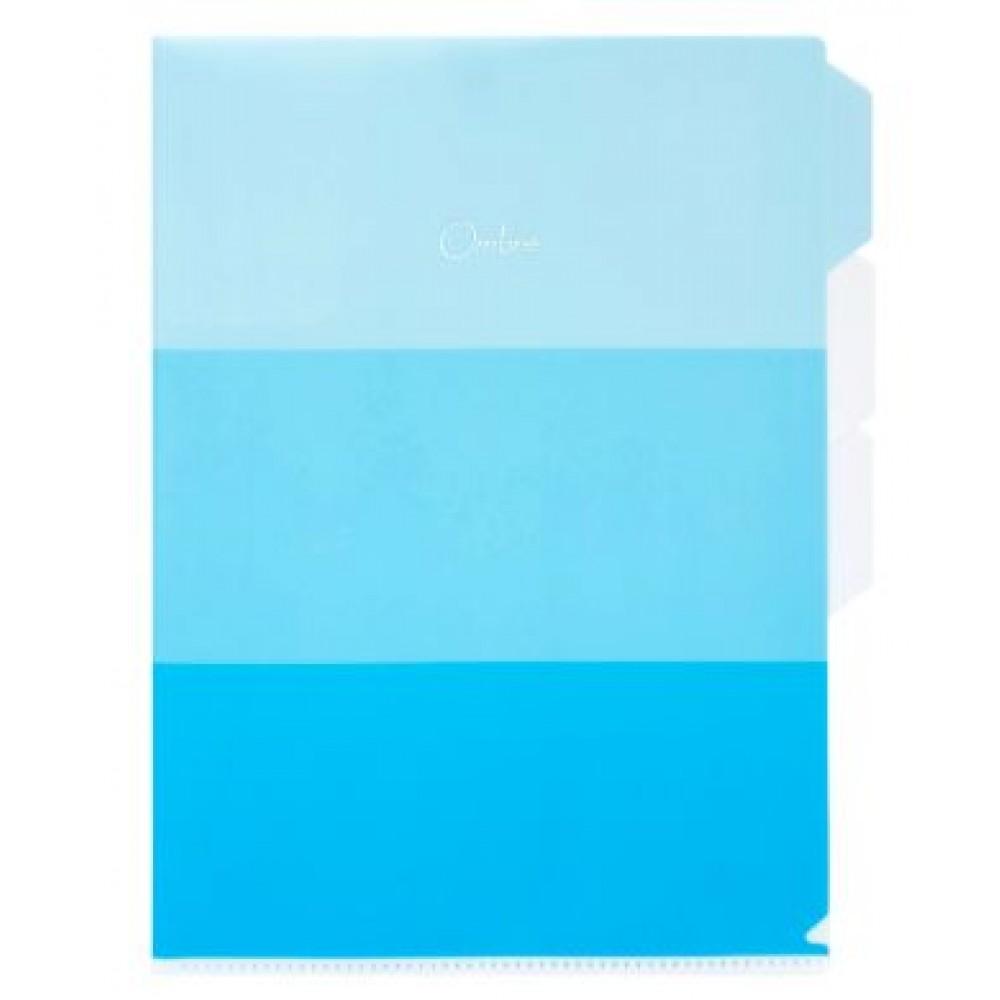 POP BAZIC OMBRE SERIES INDEX L SHAPE FOLDER A4 BLUE
