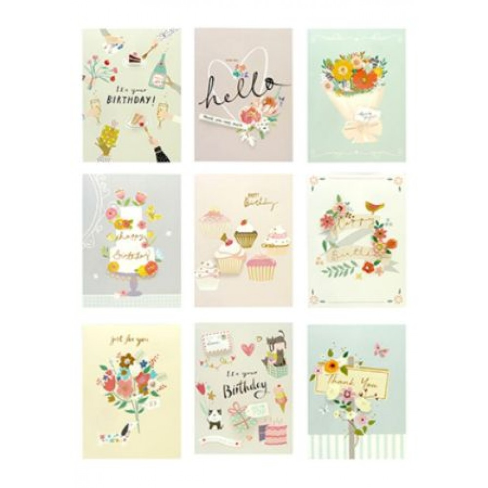 GREETING CARD 12*17CM (ASSORTED 9 DESIGNS)