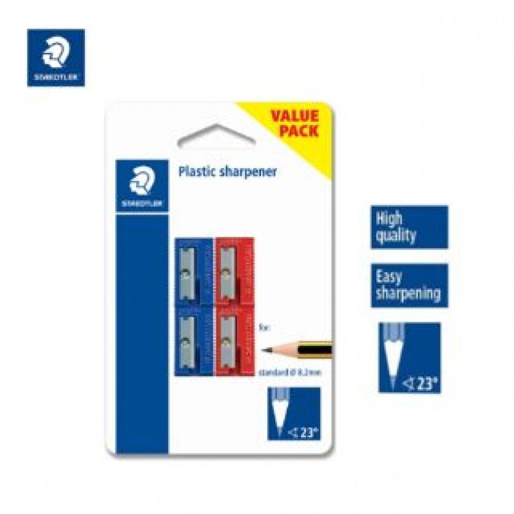 STAEDTLER PLASTIC SHARPENER 4'S