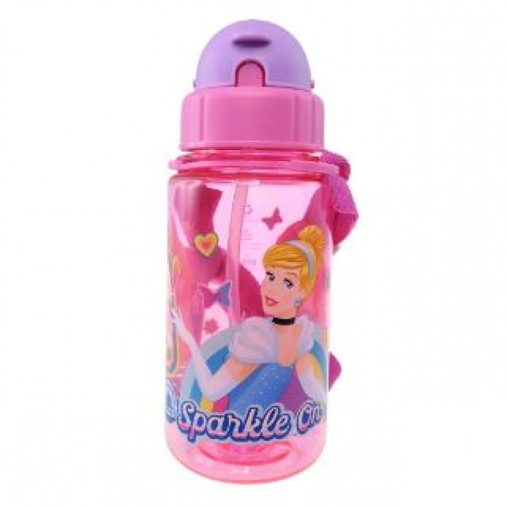 PRINCESS BOTTLE WITH STRAW 350ML