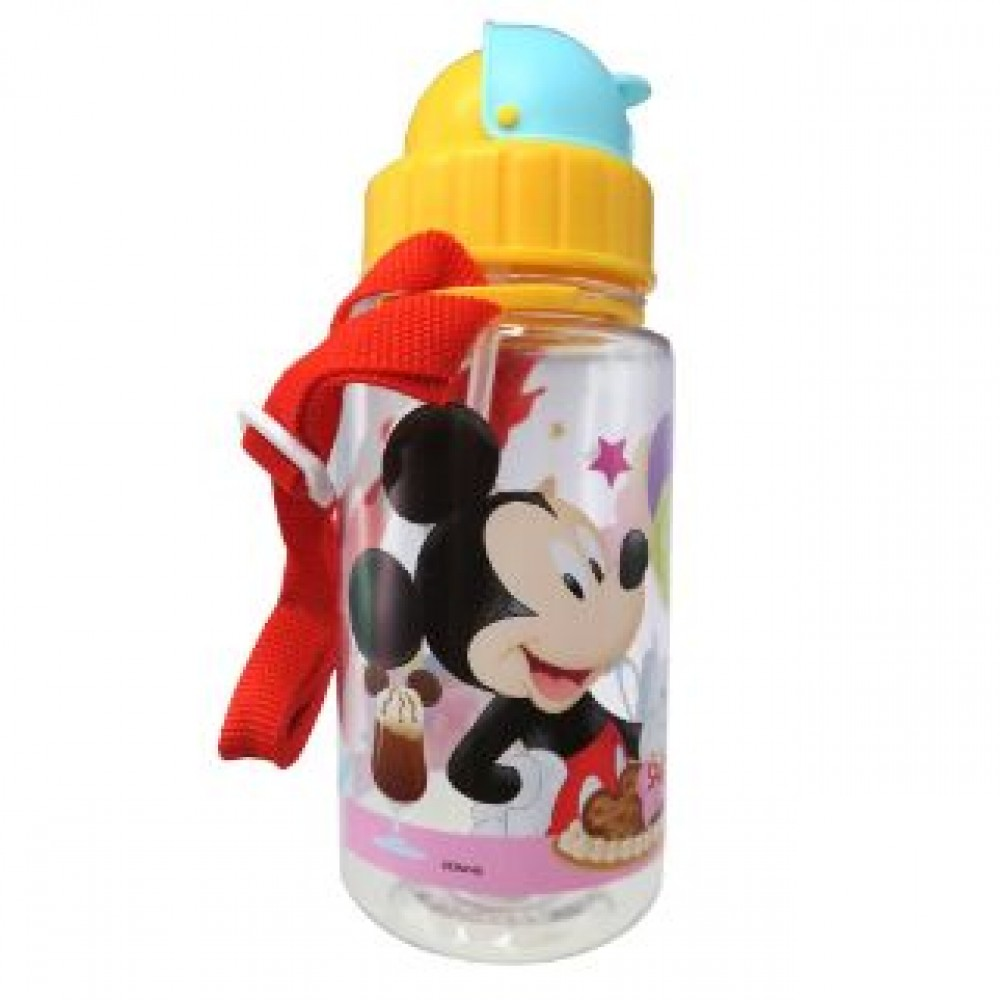 MICKEY BOTTLE WITH STRAW 350ML