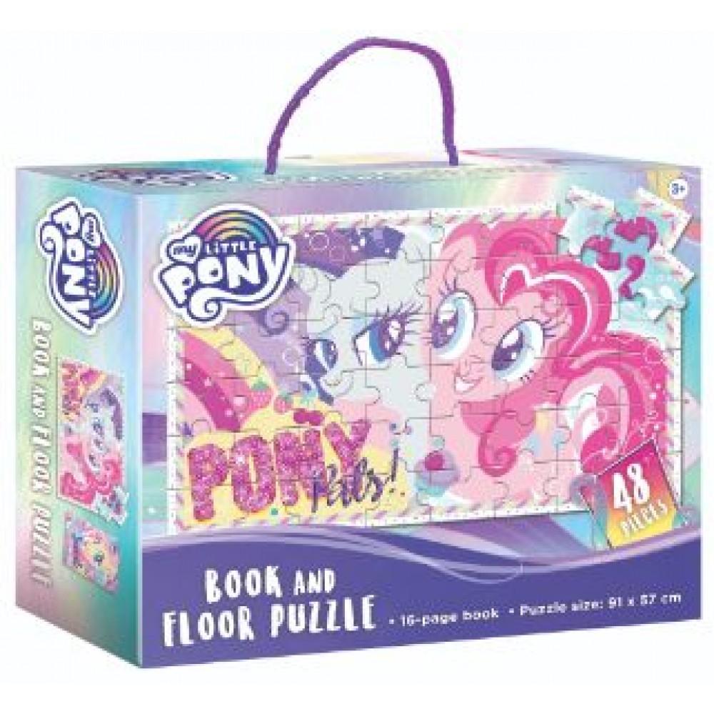 MY LITTLE PONY BOOK & FLOOR PUZZLE