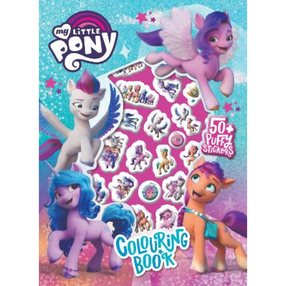 MY LITTLE PONY MOVIE PUFFY STICKER COLOURING BOOK