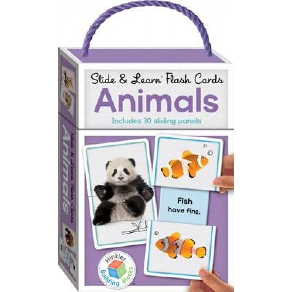 Building Blocks Slide & Learn Flashcards Animals