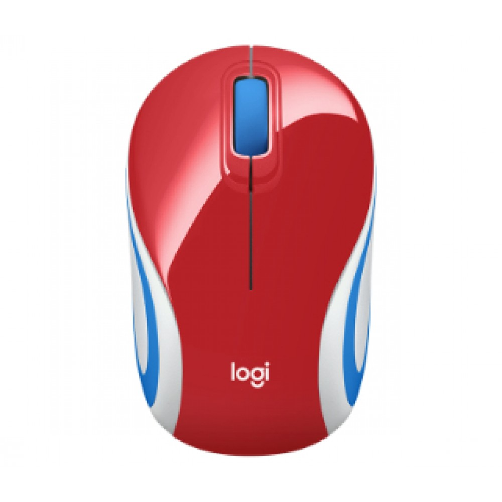 LOGITECH M187 ULTRA PORTABLE WIRELESS MOUSE RED
