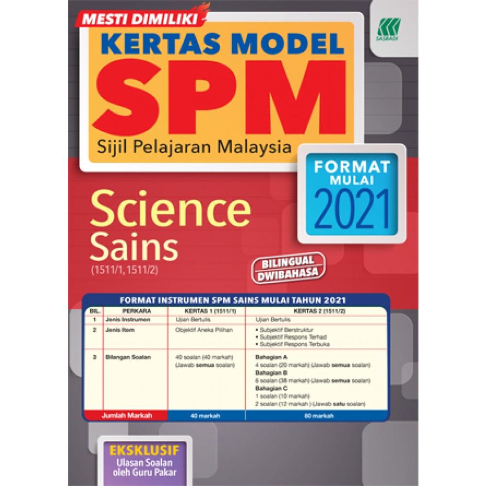 KERTAS MODEL SPM SAINS(BILINGUAL)