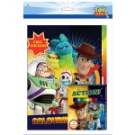 TOY STORY 4 COLOURING BOOK SET (WITH STICKER & COLOUR PENCIL)