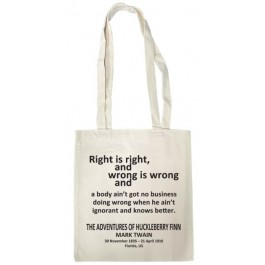 Tote Bag (The Adventure of the Huckleberry Finn)