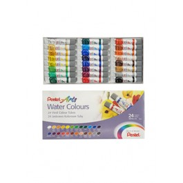 PENTEL ARTS WATER COLOURS - 24 COLOURS TUBE