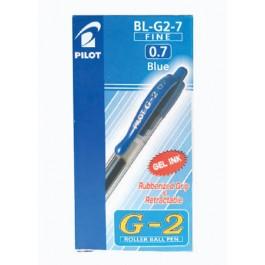 Pilot G2 Gel Pen 0.7mm Blue in Dozen Pack (12 pieces)