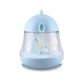 MERRY GO ROUND USB MUSIC LAMP BLUE (F10)