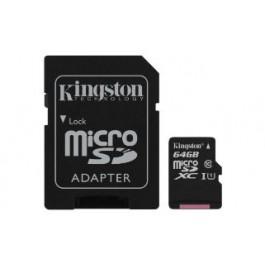 KINGSTON MEMORY CARD 64GB MSD CARD C10 80MB/S