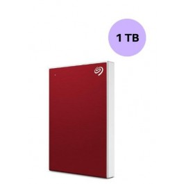 SEAGATE HARDISK 1TB BACK UP PLUS SLIM RED
