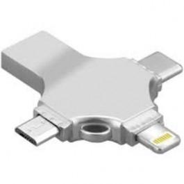 TREK USB 3.0 OTG 4-IN-1 FLASH DRIVE 32GB