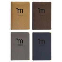 ECOMAZ Journal Craft A5 Hard Cover Plain 160 sheets 100g (Random Colour)