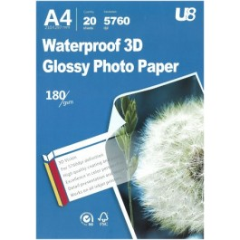 U8 A4 3D GLOSSY PAPER 180GSM (20sheets)