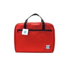 POP KIDS ART BAG WITH ZIP 40*9*31CM RED