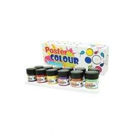 POP ARTZ POSTER  COLOUR BOX SET 15ML 12PCS
